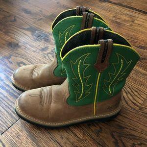 John Deere Boots Johnny Popper Youth sz 4.5M